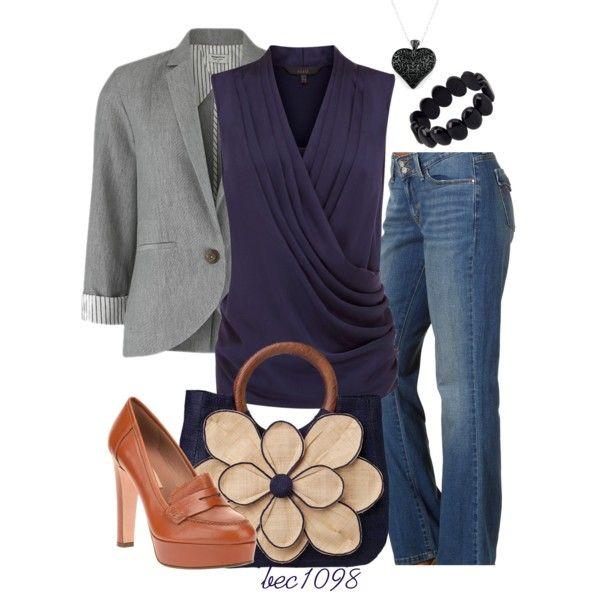 Grey jacket style idea