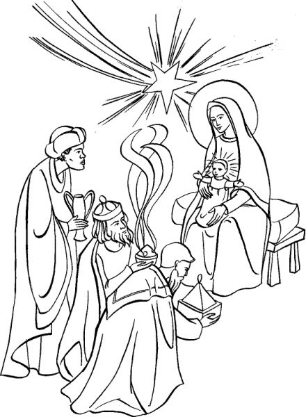 Colouring Pages Epiphany Feast Of The Coloring Page Adoration Magi To Colour