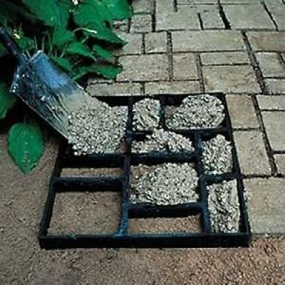 Backyard sidewalk- DIY GARDEN PATH. TAKE A MULTI PICTURE FRAME AND FILL WITH CEMENT.