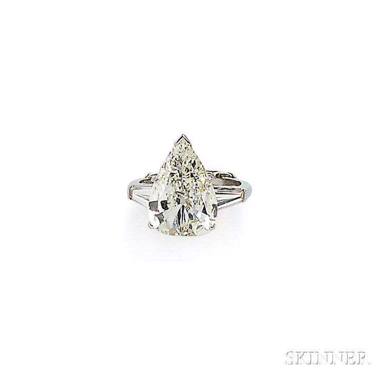 Platinum and Diamond Solitaire | Sale Number 2746B, Lot Number 526 | Skinner Auctioneers