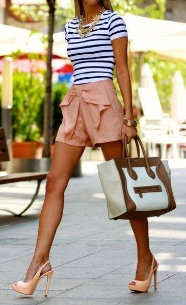 Love the outfit minus the bow on the shorts--really want these shoes!!