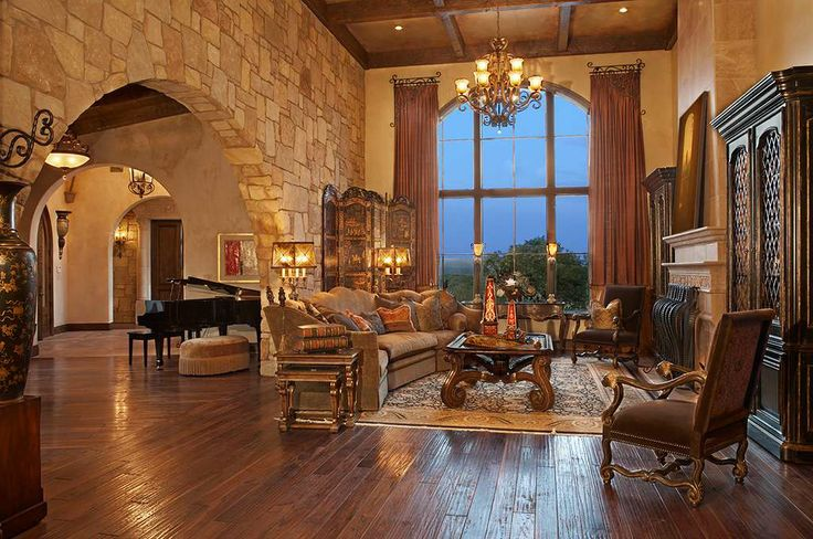 Tuscan Style Living Rooms Pinterest