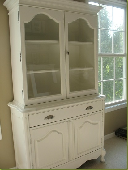 china cabinet repainted I have handles like these on the drawers just waiting to be used...