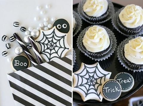 halloween wedding dessert table
