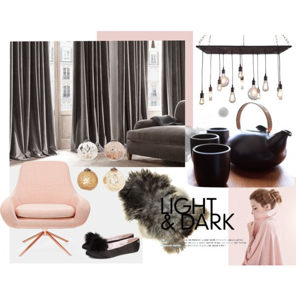 """""""grey and blush"""" by me-myself-and-victoria on Polyvore"""