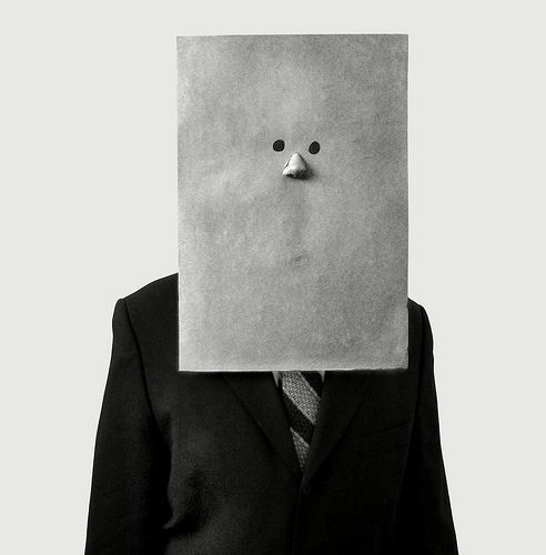 Irving Penn - Saul Steinberg In Nose Mask (1966)