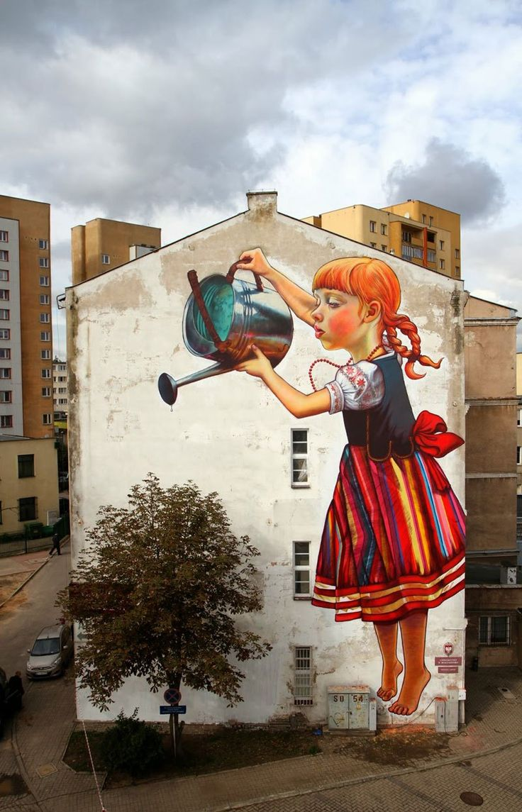 street art by natalia rak - poland Would love to see this in person. ..