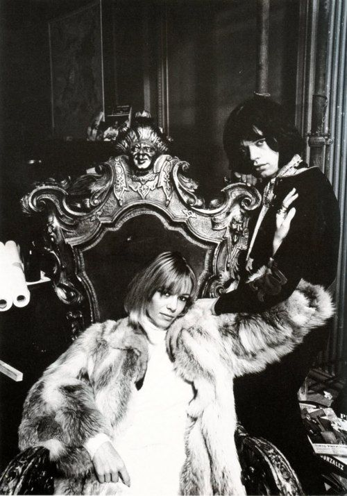 Anita Pallenberg and Mick Jagger