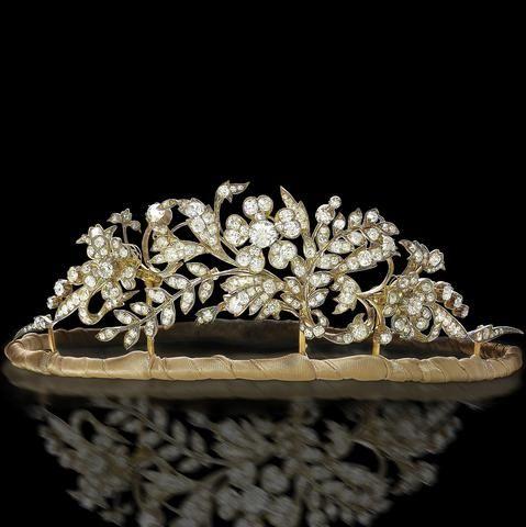A 19th century diamond tiara, circa 1850