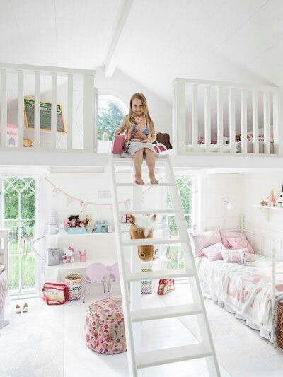 So cool! A bedroom then a whole ahng out comfort area on top! #love