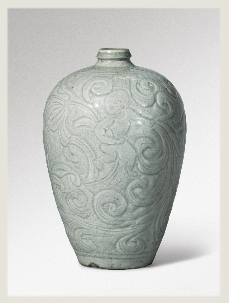 An extremely rare 'Qingbai' carved 'Boys' meiping, Southern Song Dynasty
