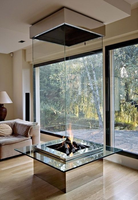 Interior .. Modern fireplace design