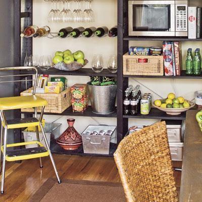 kitchen open storage