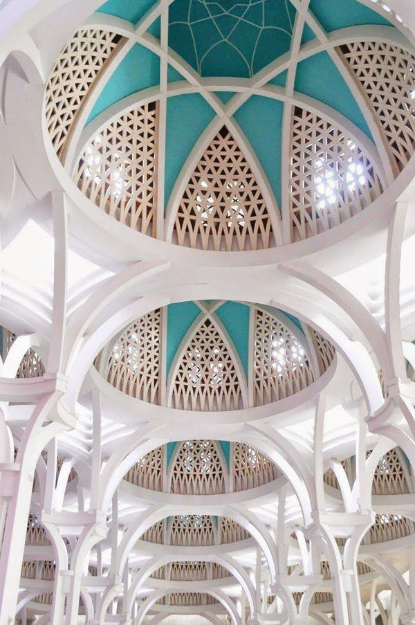 Dome of Jamek Mosque Kuala Lumpur, Malaysia.