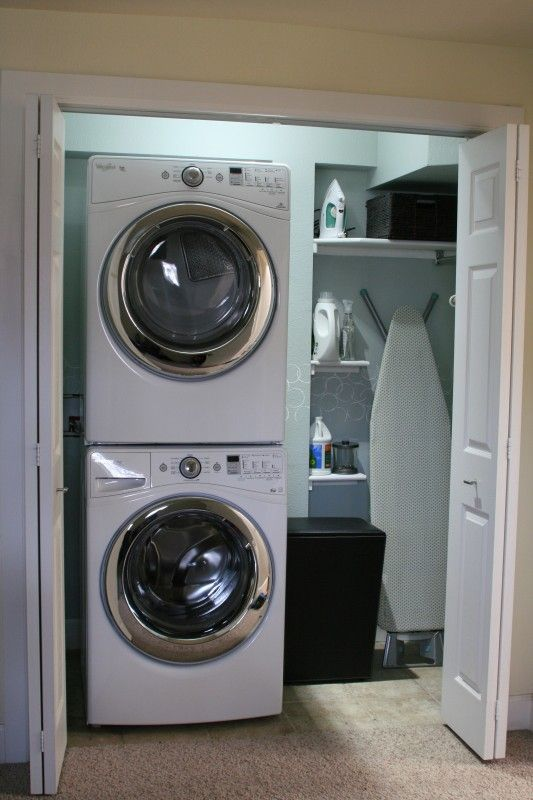 Small Laundry Room Makeover | Love Melinda on Remodelaholic.com