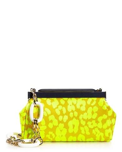 Neon Leopard Frame Bag