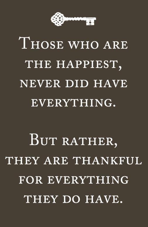 Gratefulness...