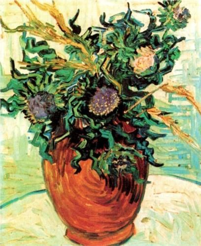 Still Life with Thistles - Vincent van Gogh