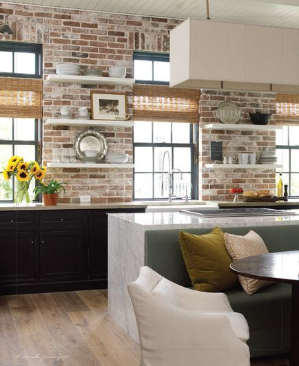 Brick accent wall in kitchen. 74 stylish with and ceilings ...
