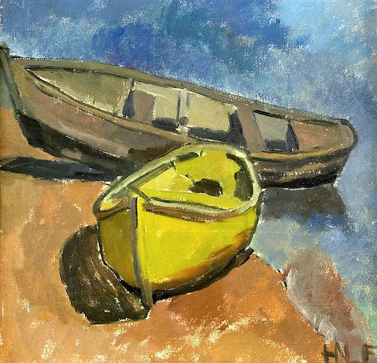LEISER-FEJNE, Helga - Boats on the shore