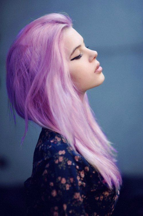 Pink and lavendar hair color