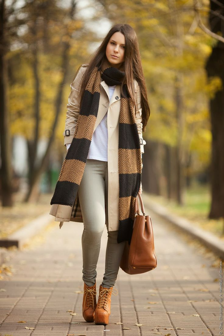 Striped Zara long scarf - beautiful