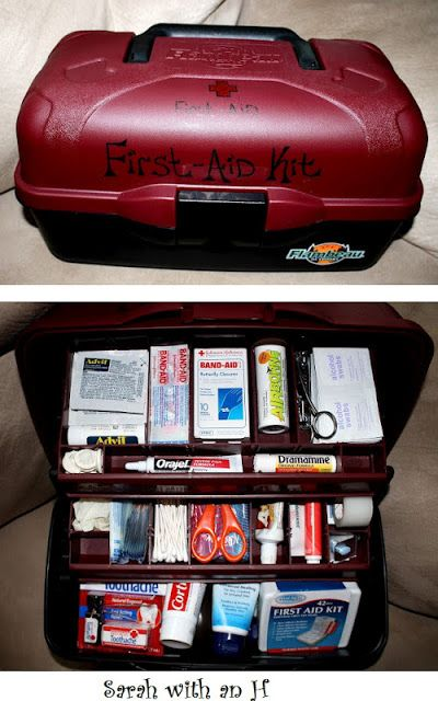 Dorm room decor DIY your own first aid kit - you will be so glad later! Make for B when he goes away? @K D Eustaquio Martin
