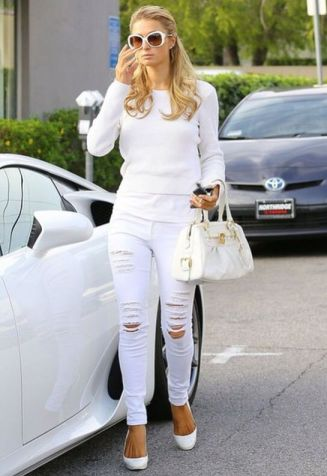Love The White Ripped Jeans