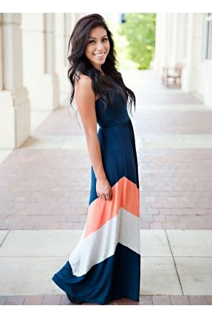 """""""For Your Stylish Life"""" Maxi Dress in Navy"""