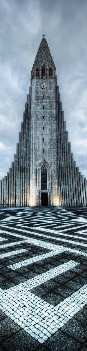 Great architecture!  Hallgrímskirkja ~ largest church in Reykjavík, Iceland ~ by Solbjartur