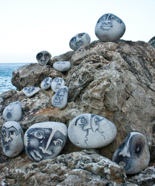 These rock paintings are imaginative and intriguing. Brought to you by ShopletPromos.com - promotional products for your business.