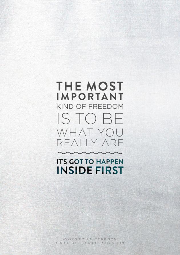 It's got to happen inside first.