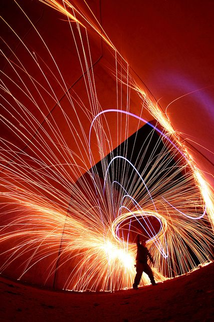 Light painting with slow shutter speed. :)