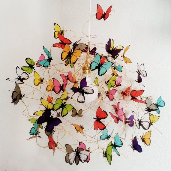 Lamp with multicolor butterflies Tutti Frutti XL by MatchDelacroix, €100.00