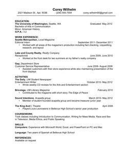 Resume Education Double Major. resumes national association for ...
