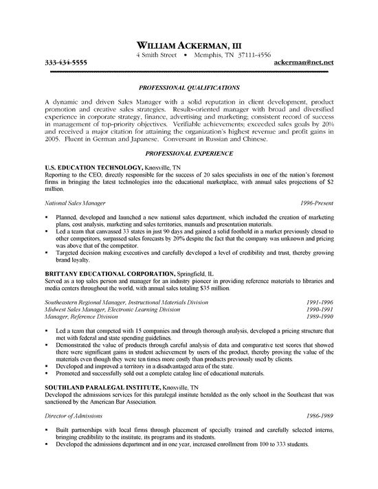 outside sales resume example resume writing examples pinterest