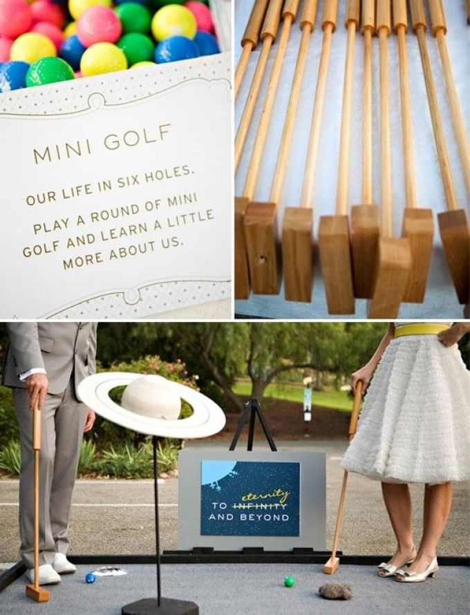 {wedding mini golf} by josefina