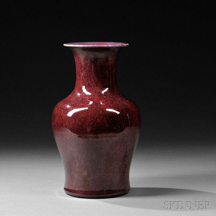 Large Mottled Flambe Vase, China, late Qing dynasty