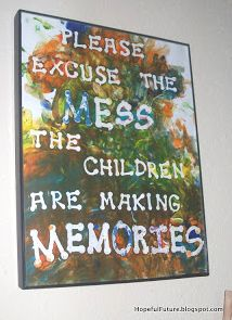 Oooo I really love this one.  Put the letters on and have the kids paint over them, then peel off!  We will definitely do this soon.
