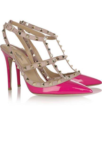 Hot pink rockstuds (Valentino)