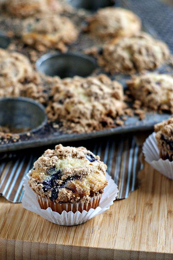 Greek Yogurt Blueberry Muffins by heatherlikesfood #Muffins #Blueberry #Greek_Yogurt