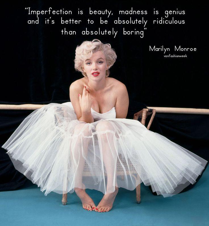 Quote by Marilyn Monroe #VancouverFashionWeek