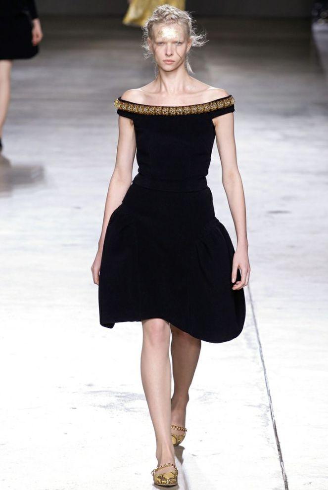 off shoulder black dress, jewelled neckline, snakeskin pointed heels