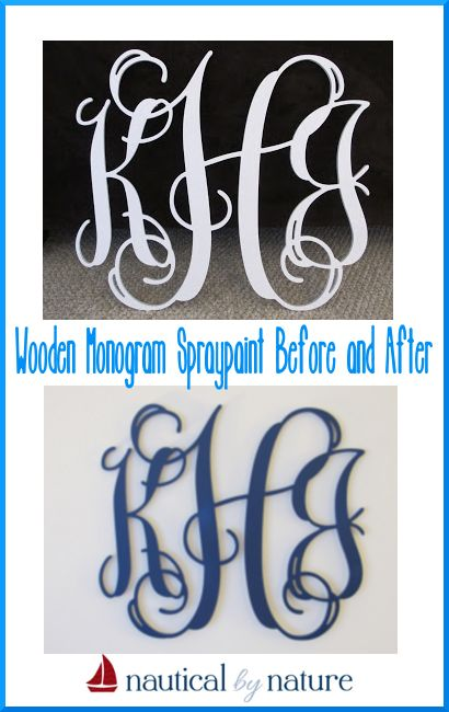 Nautical by Nature: Easy Wooden Monogram Update with spraypaint ...