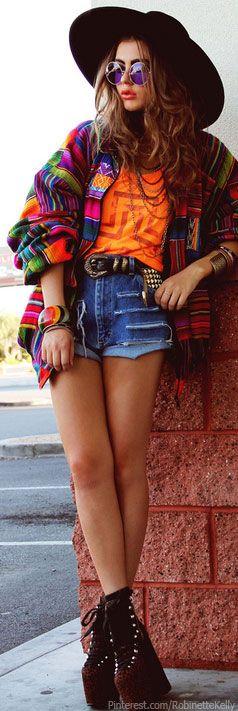 Hippie Street Style #serape boho
