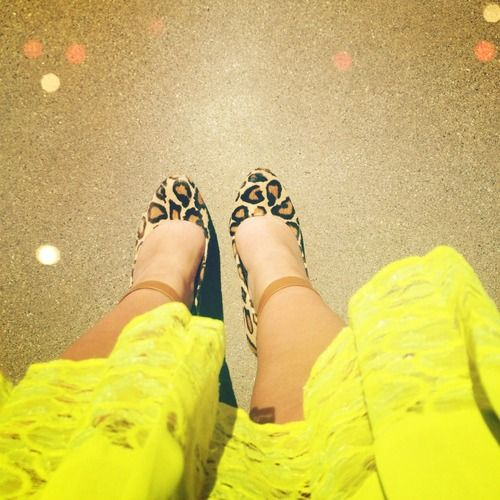 neon, leopard and lace