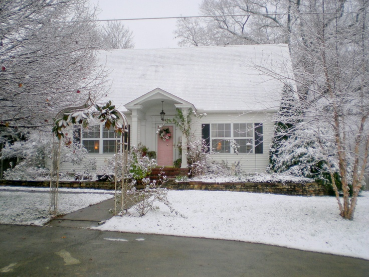 my house in the snow