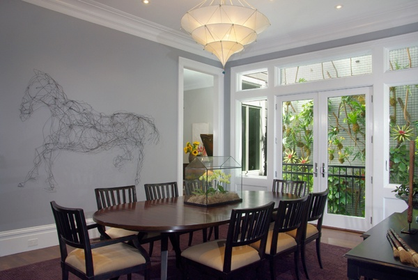 Large art in dining space