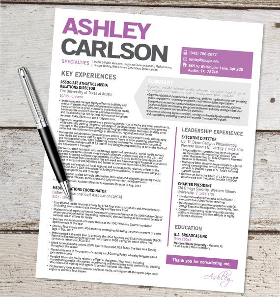 the ashley resume template design graphic design marketing sales