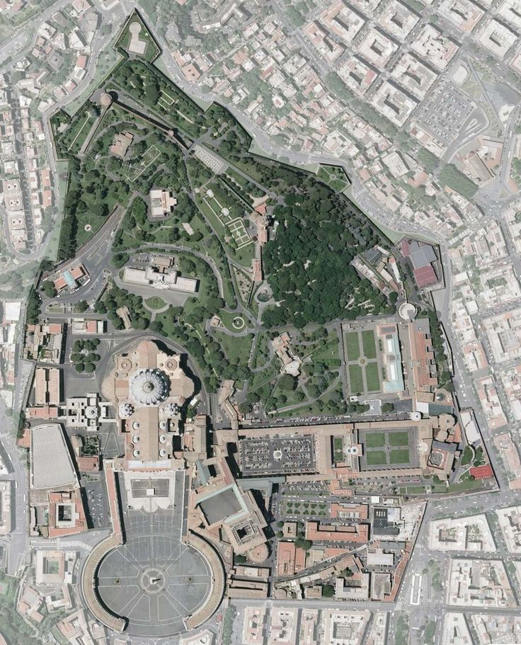 Aerial Map of Vatican City